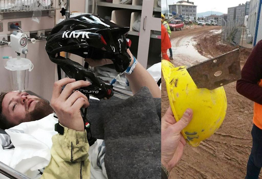 Foto-foto Helm Setelah Kecelakaan Untuk Mengingatkan Kita Selalu Memakai Helm
